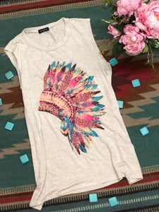 Indian Chief Headdress Tank