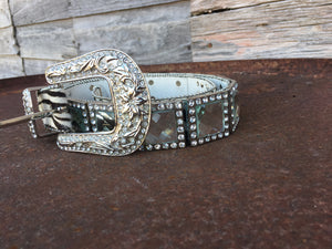Zebra Bling Belt
