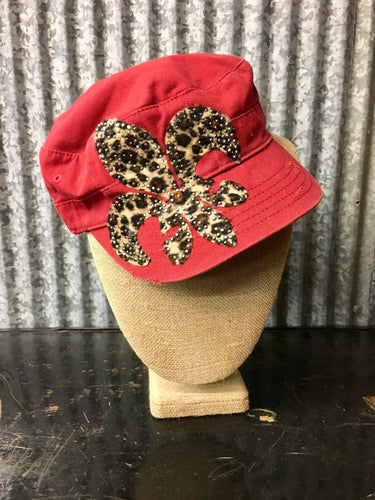 Red Cheetah Fleur Trucker Hat