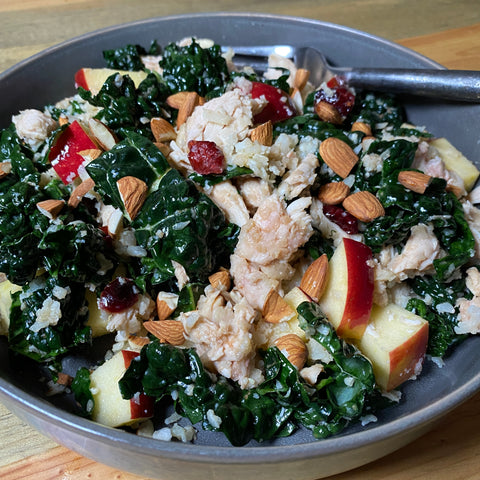Cauliflower Kale Chicken Bowl