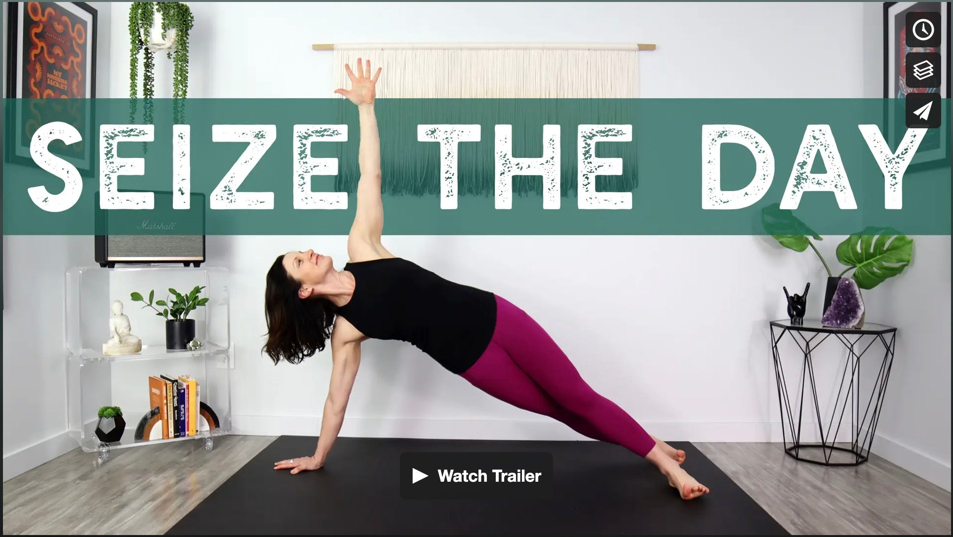 Seize The Day Yoga Home Practice with Gina Caputo