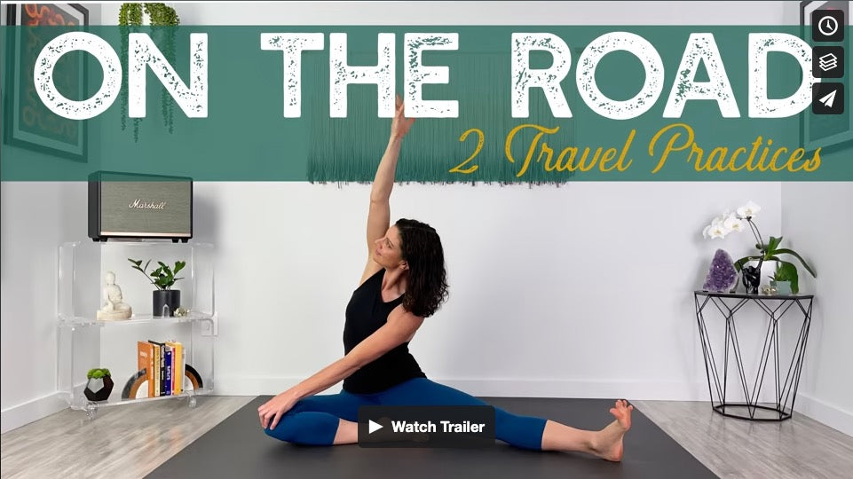 On The Road: 2 Yoga Practices for Travel by Gina Caputo Health Coach
