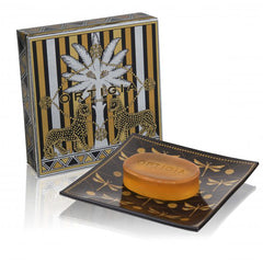 Ambra Nera Glass Plate & Soap