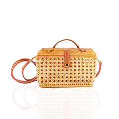 Serpui Cathy Wicker Clutch