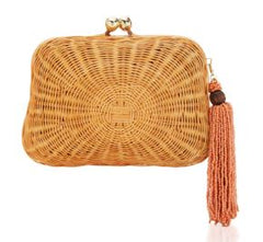 Serpui Amy Wicker Clutch