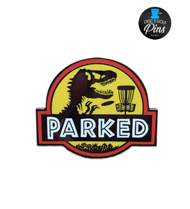 T-Rex Parked Disc Golf Pin