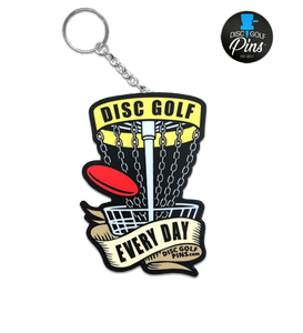 Disc Golf Every Day Keychain