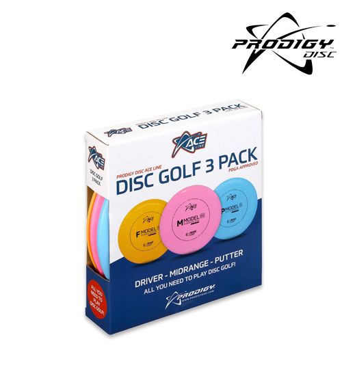 ACE Line Disc Golf 3 Pack (Lättvikt ca 138 - 140 g)