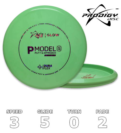 P Model S ACE Dura Flex Glow - Cale Leiviska Bottom Stamp