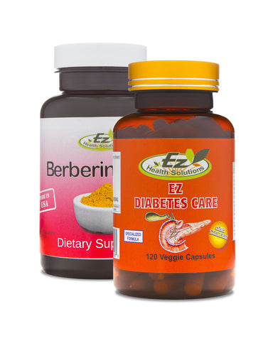 Complete Diabetic Support Kit: EZ Diabetes Care and Berberine HCL - EZ Health Solutions
