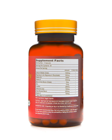 Super Bone Density Natural Supplement 30 Vegetarian Capsules - EZ Health Solutions