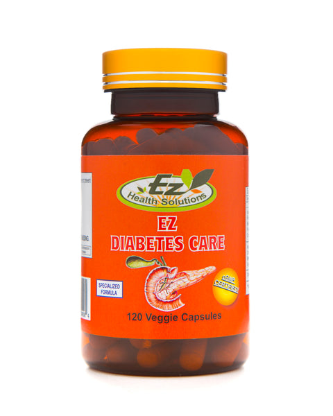 EZ Diabetes Care Daily Management Supplement 120 Vegetarian Capsules - EZ Health Solutions