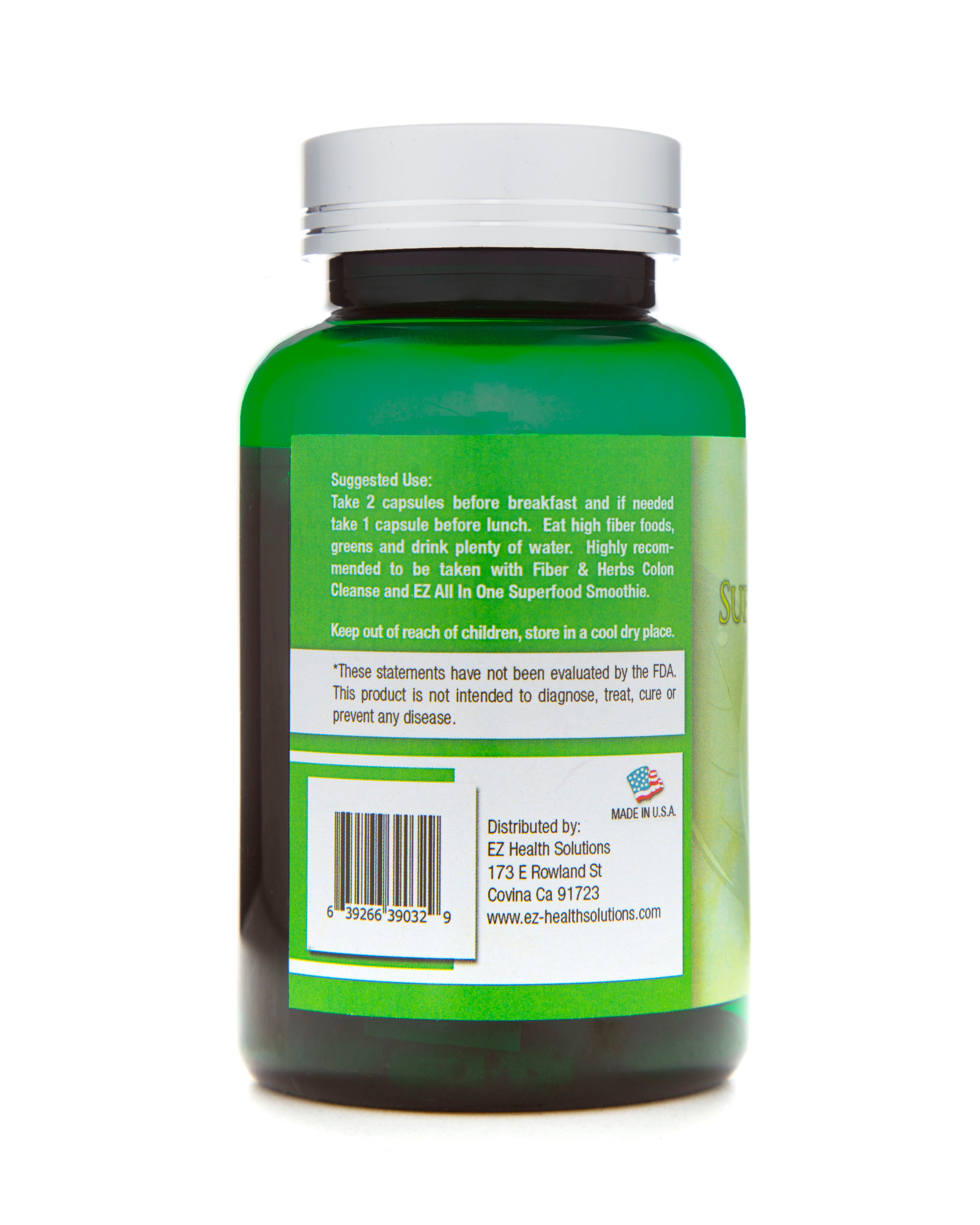 Super Energy Slim Natural Weight Loss Supplement 90 Vegetarian Capsules - EZ Health Solutions