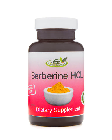 Berberine HCL Natural Diabetes Management 120 Vegetarian Capsules - EZ Health Solutions