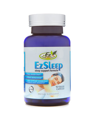 EZ Sleep Natural Herbal Sleep Aid 90 Vegetarian Capsules - EZ Health Solutions