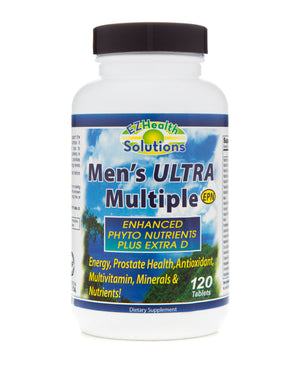 Men's Ultra Multiple Daily Vitamin Supplement 120 Vegetarian Tablets - EZ Health Solutions