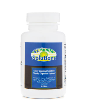 Super Digestive Enzymes for Nutrient Absorption & Digestion 90 Vegetarian Capsules - EZ Health Solutions