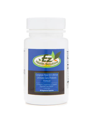 Ultimate Complete Flora 50+ Billion Gluten Free, Vegan Probiotic Supplements 30 Capsules - EZ Health Solutions