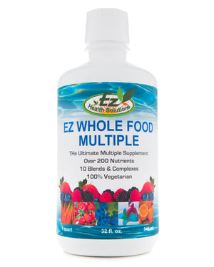 EZ Whole Food Multiple Liquid MultiVitamin for the Whole Family - EZ Health Solutions