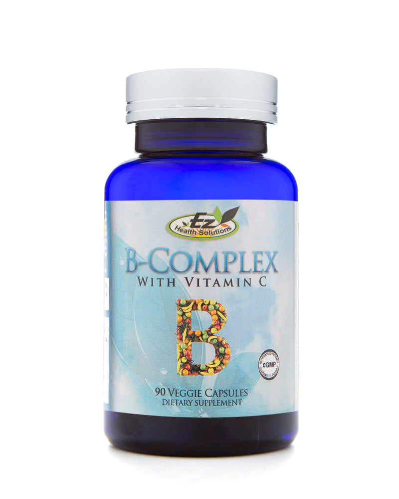 B-Complex with Vitamin C 90 Vegetarian Capsules - EZ Health Solutions