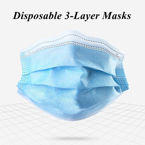 3-Ply Disposable Face Mask (25 Pack)
