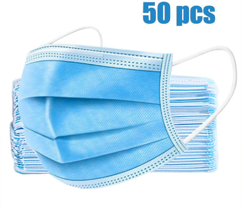 3-Ply Disposable Face Mask (50 Pack)