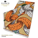 VLISCO EMBELLISHED  SUPER WAX - Color Orange