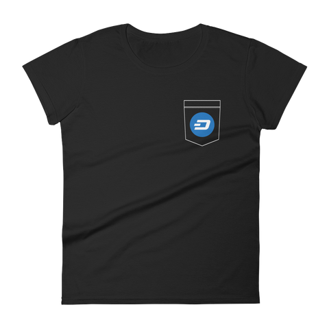 DASH Pocket Color Deluxe Woman T-Shirt -  - mycryptoneat.com crypto apparel merch