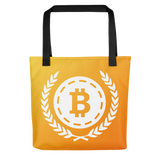 Bitcoin All-Over Sunrise Tote bag -  - mycryptoneat.com crypto apparel merch