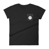 Litecoin LTC Pocket Color Deluxe Woman T-Shirt -  - mycryptoneat.com crypto apparel merch