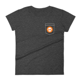 Monero XMR Pocket Color Deluxe Woman T-Shirt -  - mycryptoneat.com crypto apparel merch