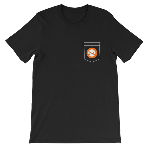Monero XMR Pocket Color Deluxe T-Shirt -  - mycryptoneat.com crypto apparel merch