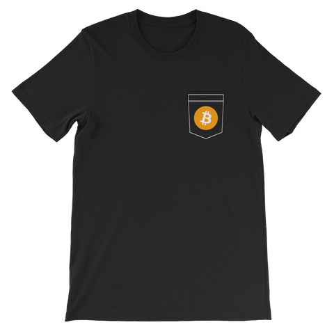 Bitcoin BTC Pocket Color Deluxe T-Shirt -  - mycryptoneat.com crypto apparel merch