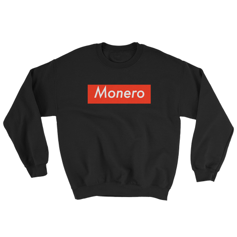 Monero XMR Supreme Premium Sweatshirt -  - mycryptoneat.com crypto apparel merch