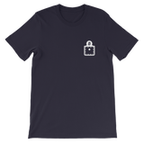 Bitcoin BTC Pocket White Deluxe T-Shirt -  - mycryptoneat.com crypto apparel merch