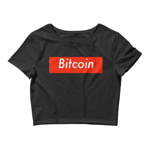 Bitcoin BTC Supreme Crop Top Women -  - mycryptoneat.com crypto apparel merch