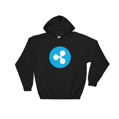 Ripple XRP Color Hooded Sweatshirt -  - mycryptoneat.com crypto apparel merch