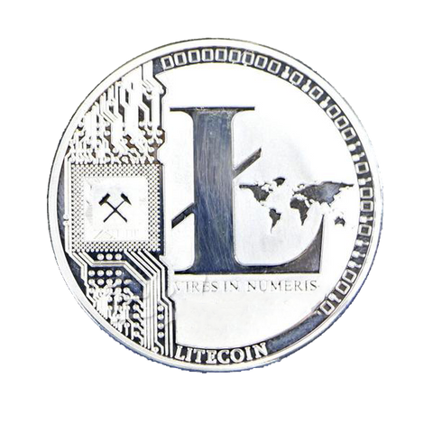 1 OZ Pure .999 Silver Plated Litecoin LTC Collectible Physical Coin - Coin - mycryptoneat.com crypto apparel merch