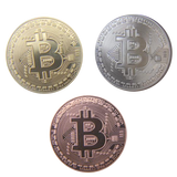 Bitcoin BTC Set Gold-Silver-Copper Collectible Physical Coin - Coin - mycryptoneat.com crypto apparel merch