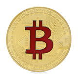 Gold Plated Bitcoin Colored Sign Collectible Physical Coin - Coin - mycryptoneat.com crypto apparel merch