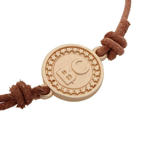 Leather Bitcoin BTC Bracelet Wristband - Bracelet - mycryptoneat.com crypto apparel merch