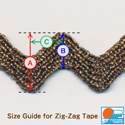Size Guide for Zig-Zag Tape