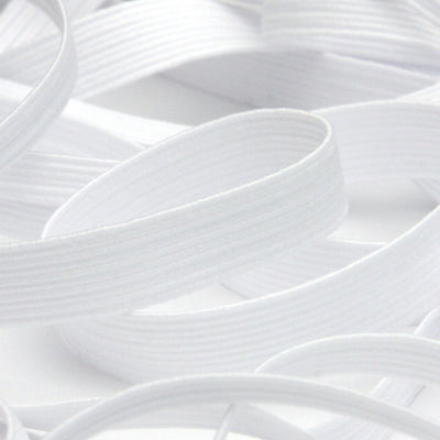 FUJIYAMA RIBBON Elastic Cord approx.8mm 9.14 Meters Roll White