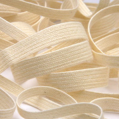 FUJIYAMA RIBBON Organic Cotton Ayatake Cord approx.8mm 9.14 Meters Roll Natural White