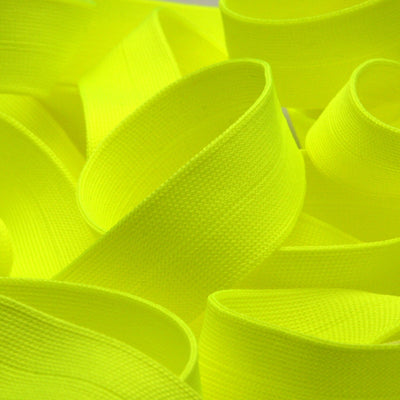 FUJIYAMA RIBBON Polyester Thin Knit Binder Tape 9x9mm 9.14 Meters Roll Fluorescence Yellow