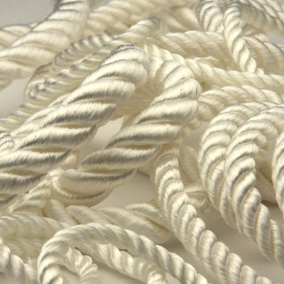 FUJIYAMA RIBBON Rayon Twist Cord approx.10mm 9.14 Meters Roll White