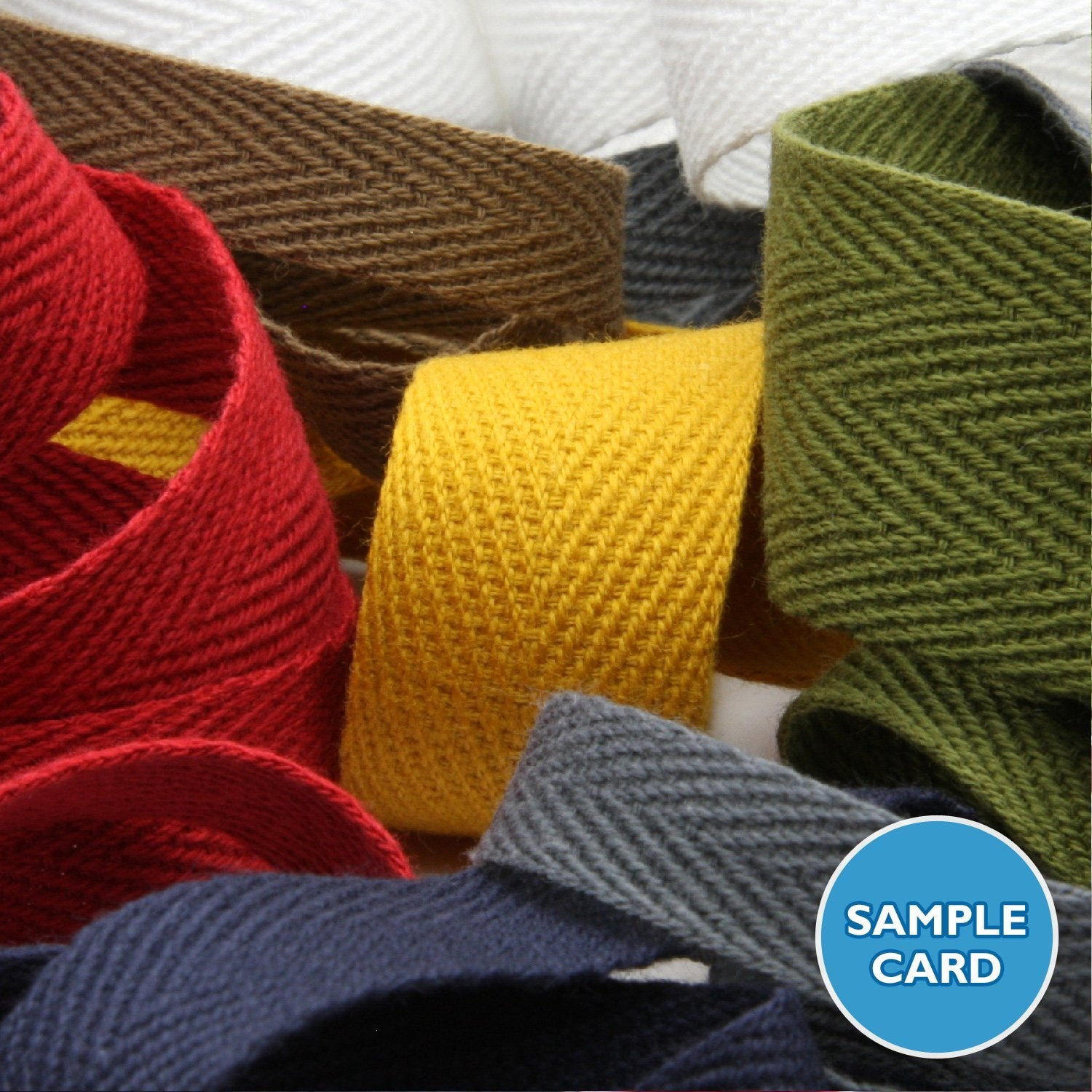 FUJIYAMA RIBBON Sample Card Cotton Herringbone Ribbon (FY-268)