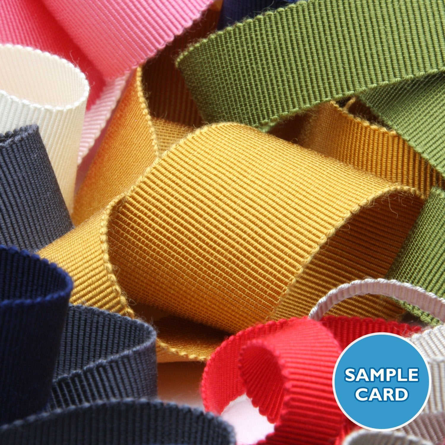 FUJIYAMA RIBBON Sample Card Rayon Grosgrain Ribbon (FY-200)