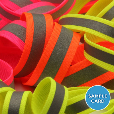 FUJIYAMA RIBBON Sample Card Reflect Knit Tape (FY-17448)
