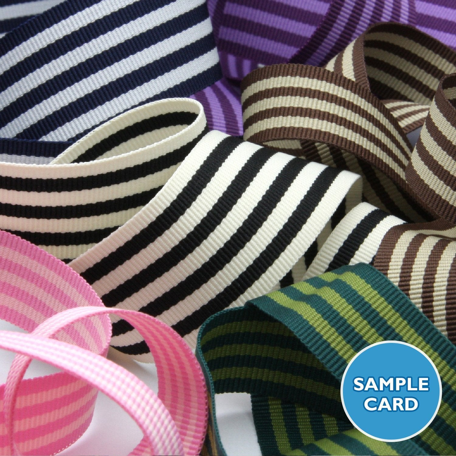 FUJIYAMA RIBBON Sample Card Stripe Grosgrain Ribbon (FY-2242 2244)